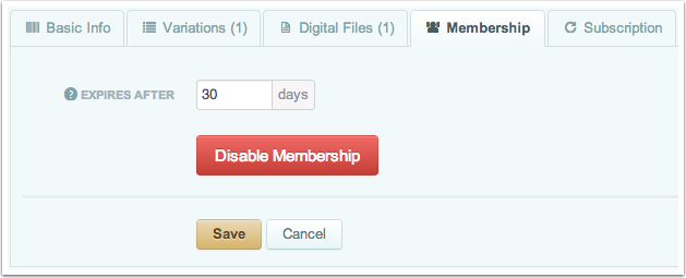 Specify Membership Settings