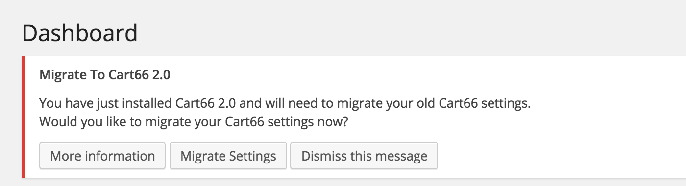 Migrate Cart66 Settings