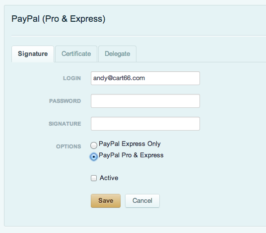 Using PayPal With Cart66 - Cart66 Help Center