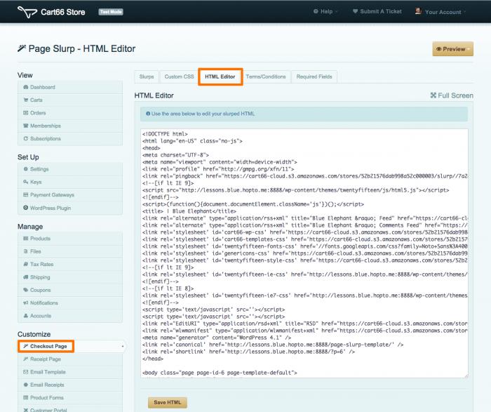 page slurp html editor