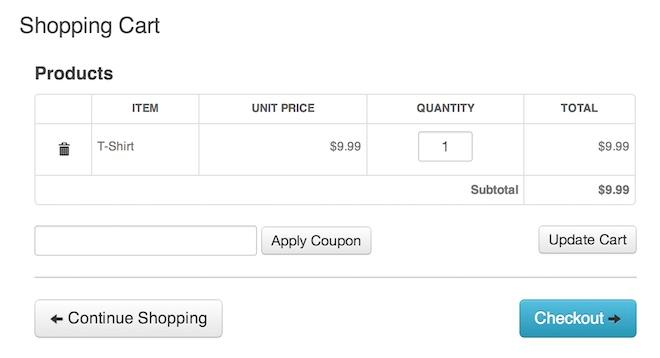 Shopping Cart Page